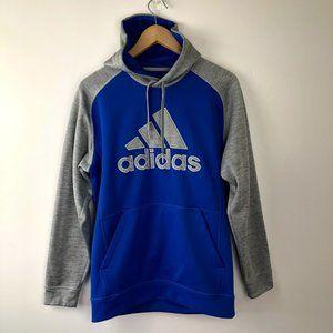 ADIDAS graphic trefoil blue grey hoodie Medium